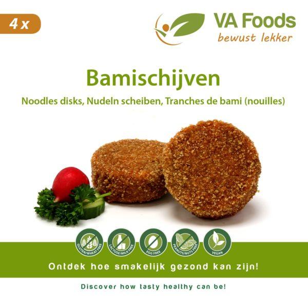VA-Foods - glutenvrij en vegan Bamischijven Nudeln Scheiben gllutenfrei airfryer